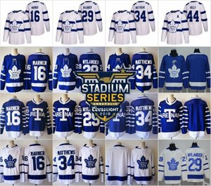 Stadium Series 2018 Toronto Maple Leafs Jerseys Hockey 34 Auston Matthews Blue Mitchell Marner William Nylander Frederik Andersen Marleau on Sale