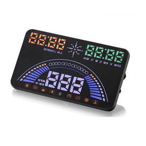 ingrosso due allarmi dell'automobile-Ultimo Car HUD Head Up Display OBD2 GPS Due sistemi Over Speed Alarm Dash Board Tachimetro digitale con interfaccia OBDII