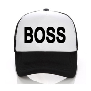 Wholesale Printing Letter BOSS Baseball Cap Black Adult Hats Adjust Casual Unisex Snapbacks Sun Cap Hip Hop Hats