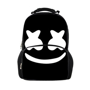 Cute Marshmello School bag Printed Casual Female Travel Backpack Women Large Teenage Girls Boys School Backpacks women backpack