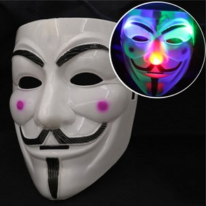 Wholesale LED Flashing Mask Light up Masquerade Party Masks Full Face Mask Cosplay Costumes Halloween