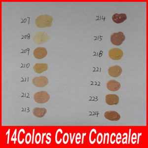High Quality Der concealer 14 colors Base Makeup Cover Extreme Foundation Waterproof 30g Cream Liquid Yellow Concealer