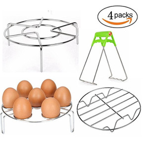 Wholesale Steaming Racks Stainless Steel Steamer Rack Stand Wire Steaming Rack and Egg Steamer Rack for Pressure Cooker Kitchen Cooking Steaming Hold