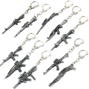 With Gift Box Weapon Model Keychain Male Mini Gun Key Chain Car Keyring Rifle Sniper Cool Mens Jewelry