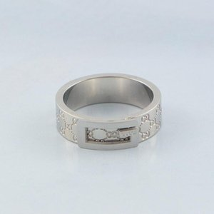 Wholesale Fashion Design Couple Rings Famous Brand Stainless Steel Sliver Ring High Quality Luxury Women Men Wedding Rings Rose Gold Plated Jewelry