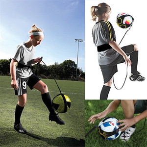 Wholesale Kick Solo Soccer Football Trainer Training Aid Practice Tool For Kids Adult Black training school equipment FFA568