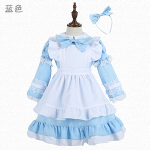 Wholesale alice in wonderland lolita Sexy French Sissy Maid Sweet Gothic Dress Anime Cosplay Halloween Costumes For Women children girls Y1892609