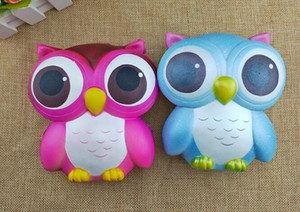 Wholesale Hot Owl Squishy Toys Soft Slow RisingPhone Strap Squeeze Break Kid Toy Relieve Anxiety Christmas Gift Free DHLhot sale Owl Squishies Kawaii