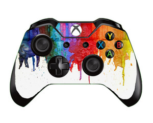 10pcs lot Painting Star Galaxy Flower Fire American Vinyl Skin Sticker For Xbox One Controller Gaming Skin Sticker