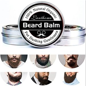 Natural Beard Conditioner Beard Balm For Dashing Gentlemen 30g Natural Organic Moustache Wax For Whiskers Smooth Styling on Sale
