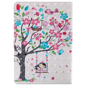 Wholesale Tree Girl D Leather For Samsung T280 T350 T560 T580 T550 T385 PU Wallet Diamond Holder ID Card Slot Butterfly Flower Tablet Case Cover Skin