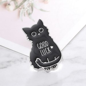 1Pcs Cute Cartoon Black Kitten Good Luck Brooch Clothes Icon Backpack Accessories Badge Decoration Brooch For Best Friends