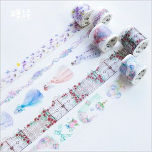 Red Rose Love Wedding dress purple flowers Lace curtain Decoration planner washi tape DIY Diary Scrapbooking masking tape escola 2016