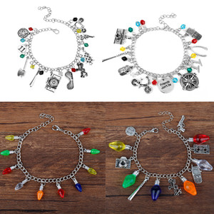 Wholesale STRANGER THINGS Crystal Beads Alloy Pendant Fashion Alloy Bracelet Christmas Gift For Woman High Quality Jewelry