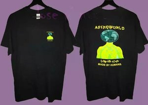 Fashion Man Travis Scott Astroworld Made by Human T Shirt S-3xl New Cool Tops Mens 2018 fashion Brand T Shirt O-Neck 100%cotton