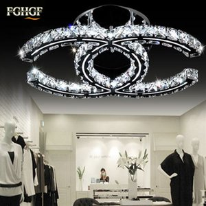 Wholesale Luxury LED Crystal Ceiling Chandelier Light Lighting K9 Crystal Chandeliers ceiling lamp lustres de cristal for living room foyer restaurant