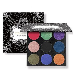 ingrosso tz-TZ Brand Colors Eyeshadow Palette Matte Diamond Glitter foiled Eye Shadow in One Palette Blush Makeup Set per la bellezza
