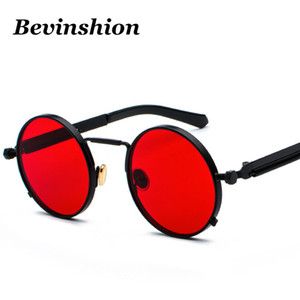 Wholesale Classic Retro Gothic Steampunk Sunglasses Men Cool Vintage Punk Glasses Male Round Sunglasses Women Mirror Coating Shade Goggles