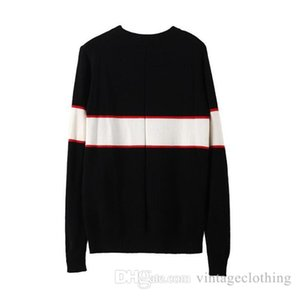 Wholesale Autumn Winter Black Sweaters Men Fashion Long Sleeve Letter Print Couple Sweaters Loose Pullover Designer Sweaters