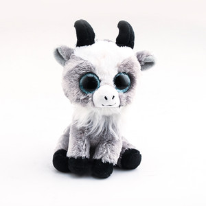 Wholesale Ty Beanie Boos Big Eyes Goat cm Stuffed Plush Animals Toys Dolls Child Gift