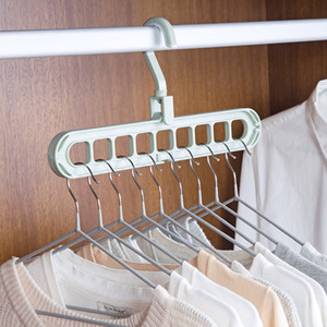Wholesale Organizer Clothes Hanger Holder Storage Rack Home Organization Hangers Garment Drying Rack Rotating Rotate Clothing Closet Hook
