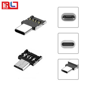 Wholesale Bestsin Mini USB Adapter Connector Type C Micro Usb OTG Adapter Interface For USB Flash Huawei Xiaomi LG Mobile Phone