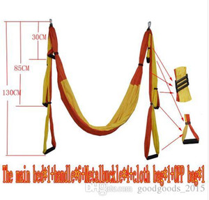 Wholesale Air Flying Yoga Hammock Aerial Yoga Hammock Belt Fitness Swing Hammock With Lb Load c614