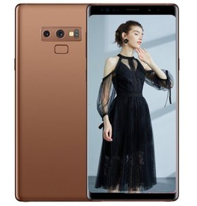 Wholesale ERQIYU Goophone Note9 cell phones shown 4g lte gsm 13.0mp MTK6592 Octa Core 2560*1440 Android 9.0 unlocked 6.4inch GPS Smartphones