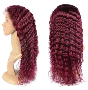 Virgin Malaysian Burgundy Lace Front Human Hair Wigs Deep Wave Full Lace Wigs Human Hair Wigs #99j