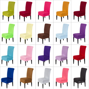Wholesale dining chairs covers resale online - Spandex Stretch Chair Covers Elastic Cloth Washable Chair Seat Cover For Dining Room Weddings Banquet Party Hotel Decorations