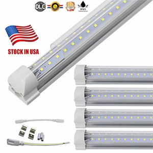 Wholesale Stock In US ft ft ft ft LED Tube Light V Shape Integrated LED Tubes ft Cooler Door Freezer LED Lighting