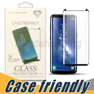 Wholesale Screen protector Case Friendly Tempered Glass For Samsung S9 S8 S10e S10 Plus Note S7 Edge with Package