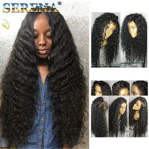 Afro Kinky Curly Wig Human Hair Kinky Curly Full Wigs with bangs in stock Human Hair Lace Front Wigs Full Lace Wig