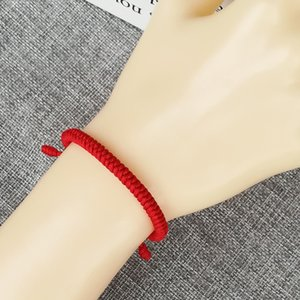 Wholesale Handmade red rope bracelet chains for men and women transshipment auspicious and safe hand rope can be adjusted thick