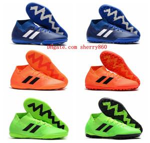 2018 mens low soccer cleats Nemeziz Tango 18.3 IC TF soccer shoes indoor football boots leather scarpe da calcio size 39-46 orange