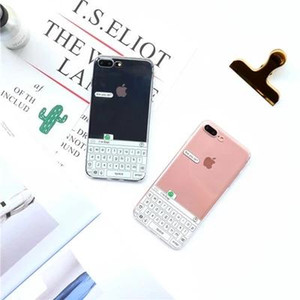 B10 keyboard forg TPU clear case for iPhone7 plus,protective back cover for iPhone6 6S plus 4.7 5.5inch