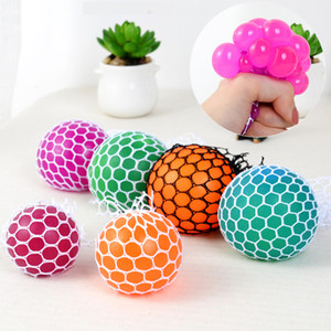 Wholesale April Fools Day Cute Anti Stress Face Reliever Grape Ball Autism Mood Squeeze Relief Healthy Toy Funny Gadget Vent Decompression Toy