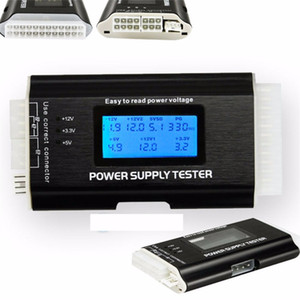 Wholesale Freeshipping Pc Computer PC Power Supply Tester Checker pin SATA HDD ATX BTX Meter LCD