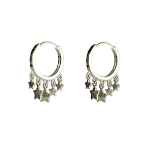 LouLeur sterling 925 silver five star earrings designer original fashion tassel earrings for women silver jewelry for charms