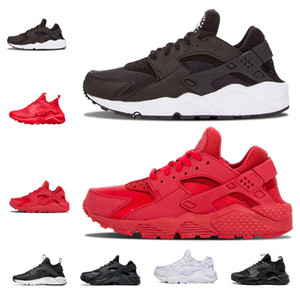 Wholesale 2018 Huarache Ultra running shoes Triple white black Huraches Running trainers for men women outdoors shoes Huaraches sneakers size