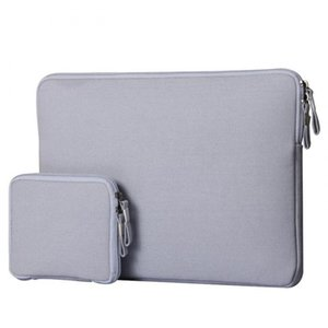 Wholesale Canvas Notebook Laptop Sleeve Case New Carry Bag Pouch Cover For Macbook Air Pro With Small Bag For Mouse QJY99