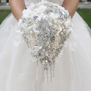 Korean creative jewelry brooch hydrangea bride holding flower bouquet