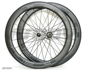 Free shipping 700C 25mm width HED new black paint 60mm carbon wheelset full carbon 700C road bike bicycle wheels