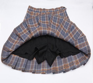 kawaii korean school uniform Skirt For Girls Plus Size Xs-xxl Plaid skirt For Women Students High Waist rock pleated skirts