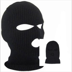 Wholesale Winter Balaclava For Adults Mens Womens Cycling Skiing Full Face Mask With Holes Covering Caps Knit Acrylic Man Sports Beanie Hats CNY822