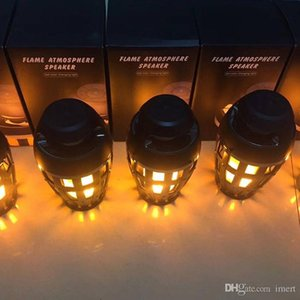 Wholesale Unique Fire Flame Atmosphere Bluetooth Speaker With Led Lights Lamp Stereo HIFI Bass Subwoofer Portable Waterproof