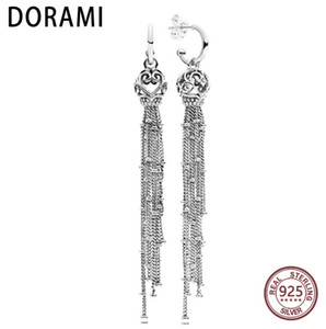 DORAMI 2018 Latest Enchanted Tassels Hanging Earring Studs Fit PANDOR Party GIFT Wholesale Factory price Classic Jewelry