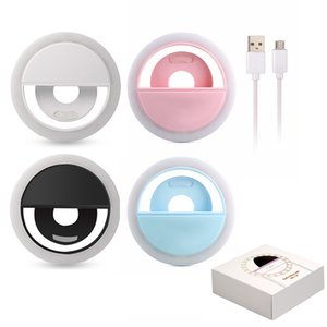 Wholesale USB charge LED Selfie Ring Light for iPhone Supplementary Lighting Night Darkness Selfie Enhancing for phone Fill Light