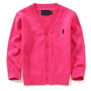 Wholesale New Children Top Clothes Brand Cotton Baby Sweater High Quality Kids Outerwear Girl Sweater Boy Sweater V neck Polo Sweaters