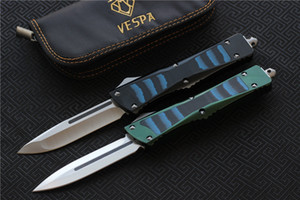 High quality VESPA Knife Blade:D2(S E,D E) Handle:Aluminum+TC4+G10,Outdoor camping survival knives EDC tools